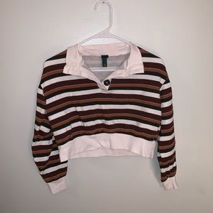 Fall Cropped Sweater Top